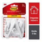 Large White Utility Hook Value Pack (6 Hooks, 12 Strips)