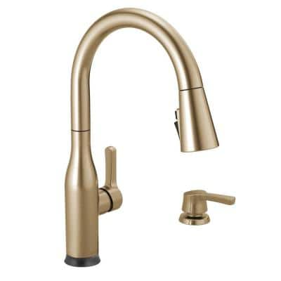 Marca Single-Handle Touch Pull-Down Sprayer Kitchen Faucet with ShieldSpray Technology in Champagne Bronze