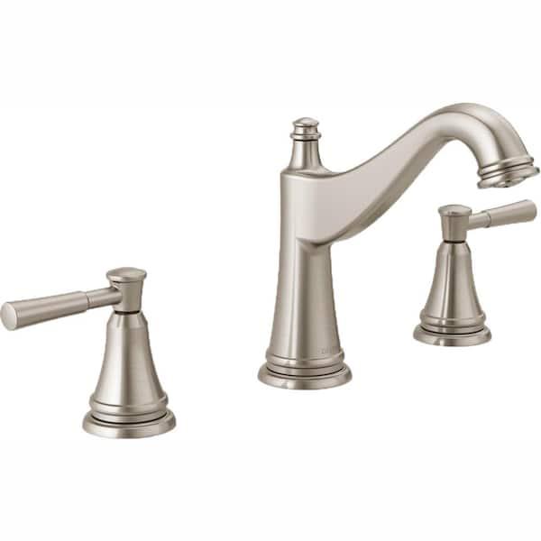 Delta Mylan 8 in. Widespread 2-Handle Bathroom Faucet in SpotShield Brushed Nickel