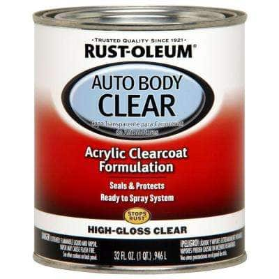 1 qt. High-Gloss Clear Auto Body Low VOC Acrylic Clearcoat Paint (2-Pack)