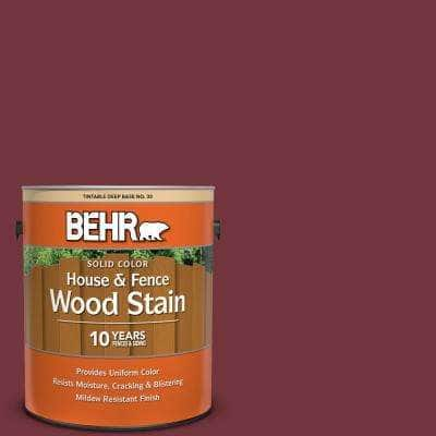 1 gal. #S130-7 Cherry Cola Solid Color House and Fence Exterior Wood Stain