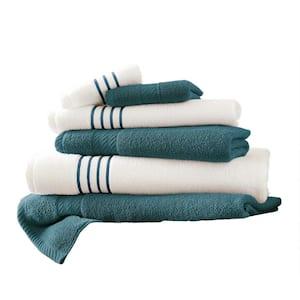 6-Piece Deep Sea Stripe Bath Towel Set