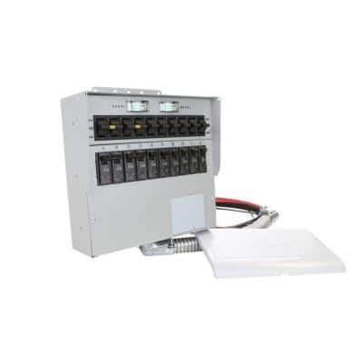 50 Amp 10-Circuit Manual Transfer Switch