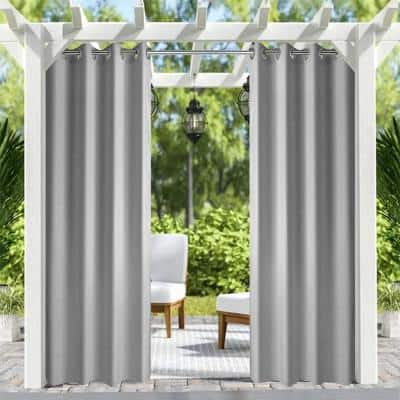 Grey Thermal Grommet Blackout Curtain - 50 in. W x 84 in. L