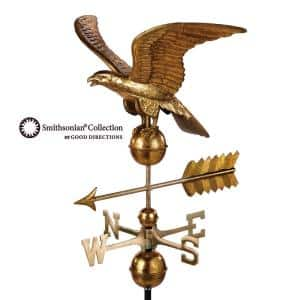 Smithsonian Eagle Weathervane - Pure Copper with Golden Leaf Finish