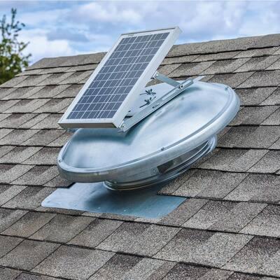 10 Watt Next-Generation – High-Efficiency Hybrid Solar/Electric Powered Roof Mount Exhaust Fan