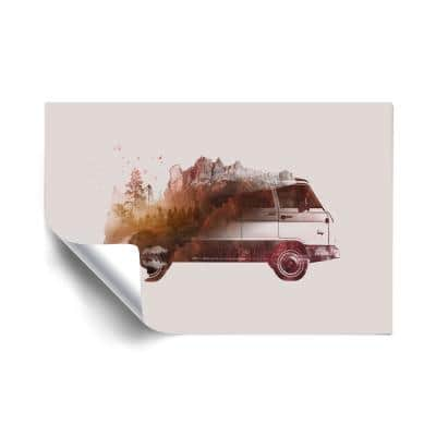 """""""Drive me back home no.1"""" Travel Removable Wall Mural"""