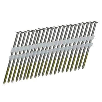 0.120 in. x 3 in. 21-Degree Plastic Collated Brite Smooth Shank Full Round Head Framing Nails (4000-Count)
