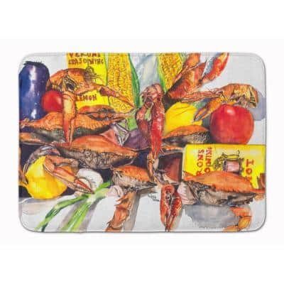 19 in. x 27 in. Veron's and Crabs Machine Washable Memory Foam Mat