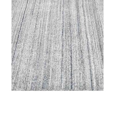 Harbor Contemporary Solid Heather 8 ft. x 10 ft. Hand-Knotted Area Rug