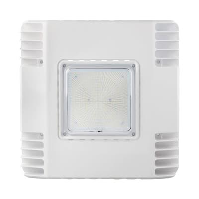 300-Watt Equivalent Integrated LED White Water Resistant Canopy Light, 4000K
