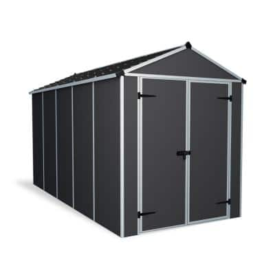 Rubicon 6 ft. x 12 ft. Dark Gray Storage Shed