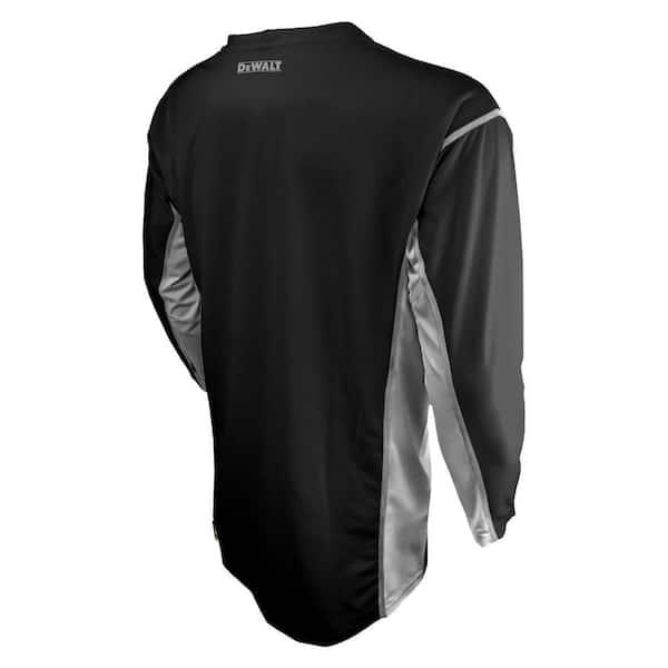 Men/'s DeWalt Performance Mesh Black Short Sleeve T-Shirt Size L Large