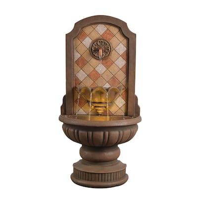 Armando 42 in. Travertine Floor Fountain