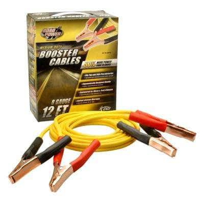12 ft. 8-Gauge 200 Amp Yellow Booster Cables