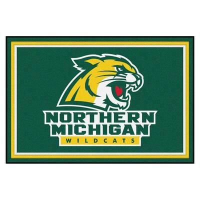 NCAA - Northern Michigan University Green 5 ft. x 8 ft. Area Rug