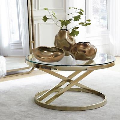 Matte Bronze Abstract Ceramic Bowl