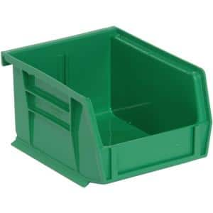 Ultra Series Stack and Hang 1.2 Gal. Storage Bin in Green (24-Pack)