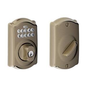 Camelot Antique Pewter Keypad Electronic Door Lock Deadbolt