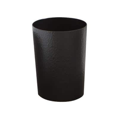 Hammered Textured Trash Can in Black