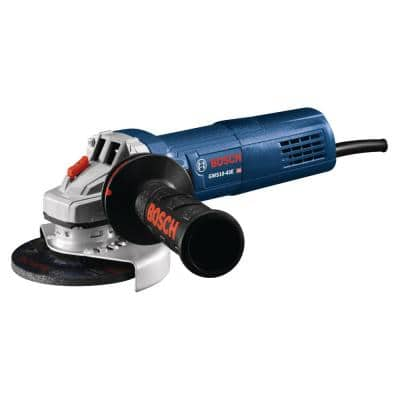 10 Amp Corded 4-1/2 in. Angle Grinder with Auxiliary Handle and Tool-Free Wheel Guard