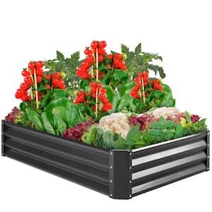 6 ft. x 3 ft. Metal Raised Garden Bed