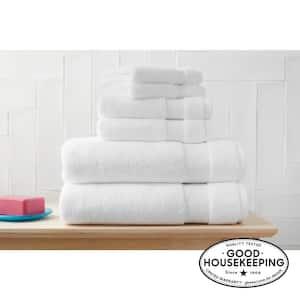6-Piece Hygrocotton Towel Set in White