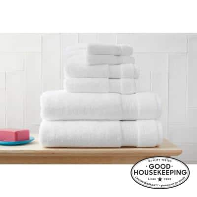 6-Piece Hygrocotton Towel Set in White