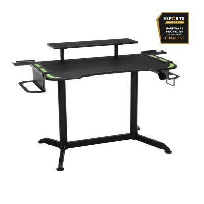 53 in. Rectangular Green Computer Desk with Adjustable Height Feature