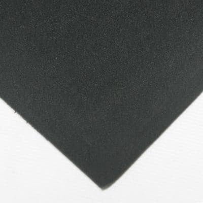 Closed Cell Sponge Rubber EPDM 1 in. x 39 in. x 78 in. Black Foam Rubber Sheet