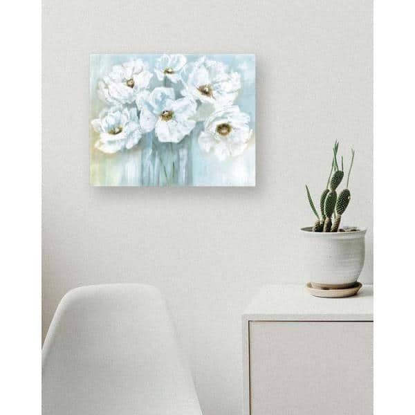 Ptm Images 10 In X 12 In White Poppy Bouquet By Canvas Wall Art 9 141241 The Home Depot