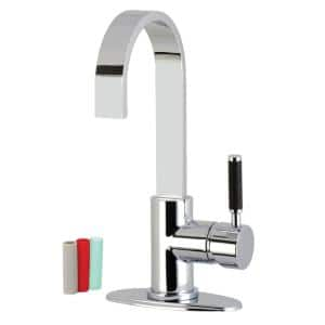 Kaiser Single-Handle Bar Faucet in Polished Chrome