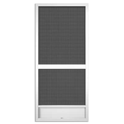 36 in. x 80 in. Canoe Creek White Aluminum Screen Door