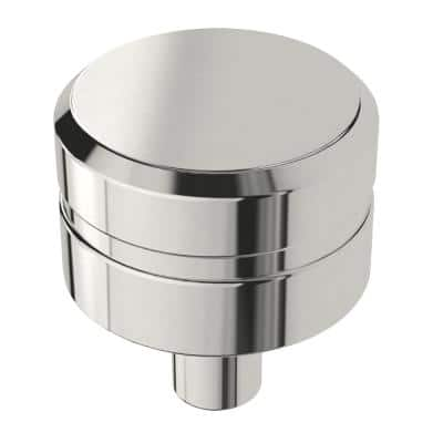 Etched Modern 1 in. (26 mm) Polished Chrome Round Cabinet Knob