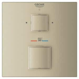 Grohtherm Cube Dual Function 2-Handle Trim Kit in Brushed Nickel (Valve Not Included)
