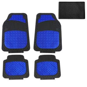 Fh Group Trimmable High Quality Metallic 28 In X 18 In Rubber Floor Mats Dmf11315blue The Home Depot