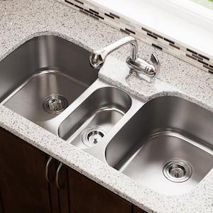 Undermount Stainless Steel 43 in. Triple Bowl Kitchen Sink