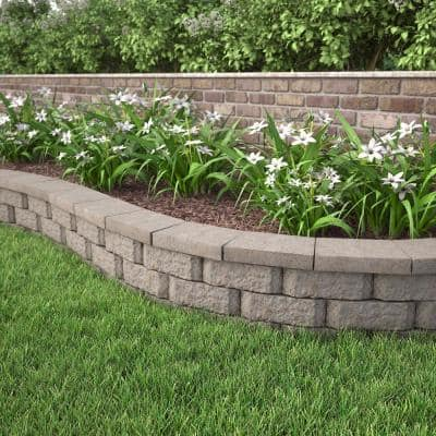 Fieldstone 2 in. x 12 in. x 8 in. Charcoal/Buff Blend Concrete Wall Cap (120 Pieces / 118.5 Linear ft. / Pallet)