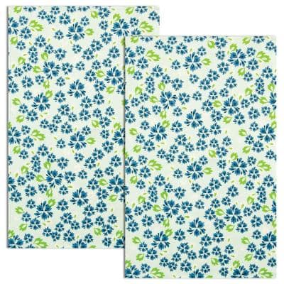 Nantucket Multi Floral Coastal Cotton Tea Towels (Set of 2)