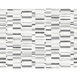 Fresnaye Black Linen Stripe Black Vinyl Strippable Roll (Covers 60.8 sq. ft.)