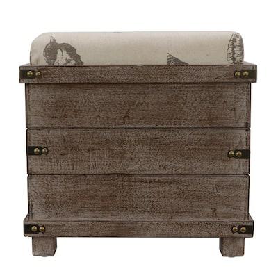 Hadley Gray Storage Ottoman