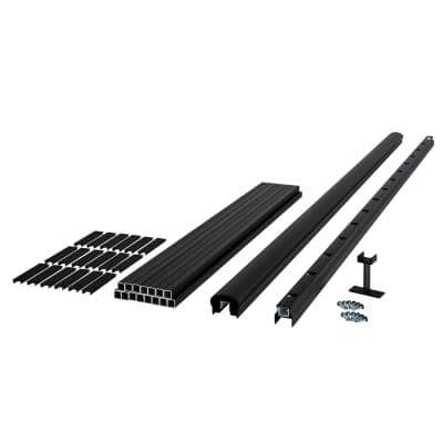 Fiberon HavenView/CitySide 72 in. x 36 in. Matte Aluminum Railing Kit Line - Black (Includes 1 Crush Block, 15 Balusters