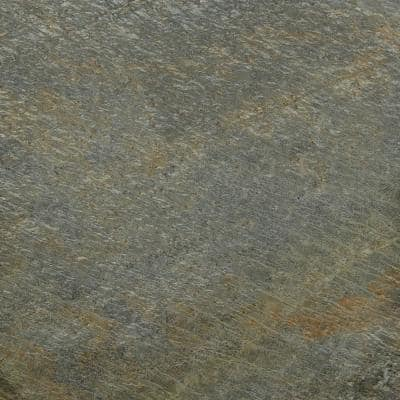 Gold Green 12 in. x 12 in. Honed Quartzite Floor and Wall Tile (10 sq. ft. / case)