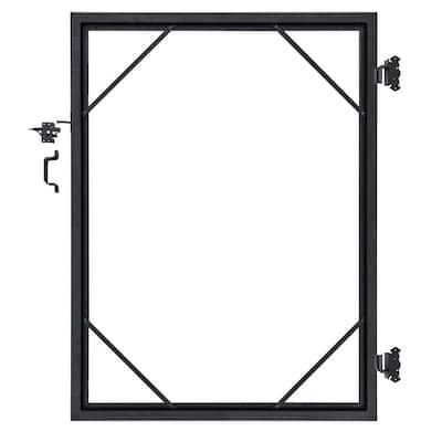 5 ft. x 6 ft. Euro Style Adjustable Aluminum Metal Fence Gate Frame Kit