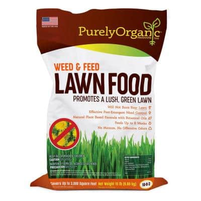 15 lbs. 3,000 sq. ft. Weed and Feed Lawn Food 10-0-2, Covers