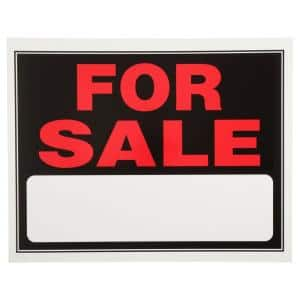 15 in. x 19 in. Plastic for Sale Sign