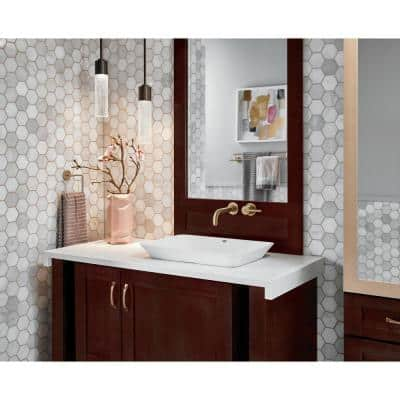 Trinsic 24 in. Double Towel Bar in Champagne Bronze