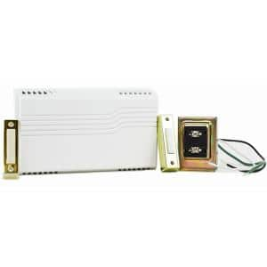 2-Note Wired Doorbell Chime Kit with 2 Push Buttons and 1 16V Transformer
