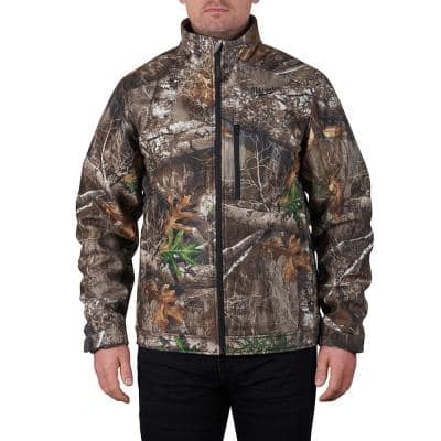 Men's Large M12 12V Lithium-Ion Cordless QUIETSHELL Camo Heated Jacket with (1) 3.0 Ah Battery and Charger