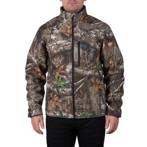 Men's Medium M12 12V Lithium-Ion Cordless QUIETSHELL Camo Heated Jacket with (1) 3.0 Ah Battery and Charger